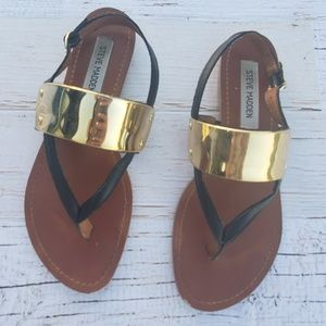 Gold cuff Steve madden sandals